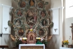02) oltářní obraz Sv. Vojtěch zouván z bot u přívozu v Neratovicích