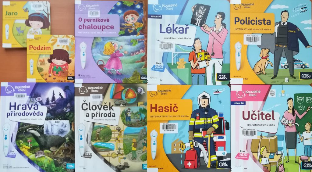 Knihy k elektronické tužce Albi