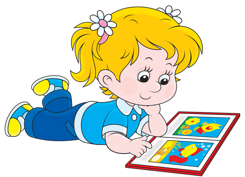 děvčátko s knihou